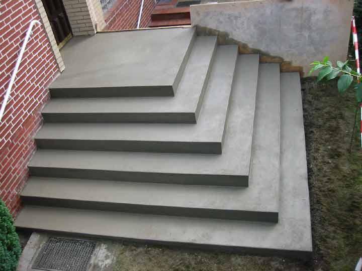 Gemauerte Treppen Außen stuwe betontreppe: treppen rohbau